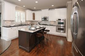 Canton Kitchen Cabinet Makeover From Maple To Off White Finish - Kitchen cabinets makeover