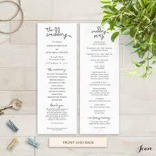 wedding program templates word wedding programs template instant dreams edit print