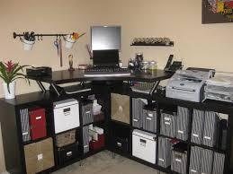 furniture l shaped black wooden corner desk with shelves and