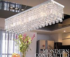 CRYSTOP Clear K Crystal Chandelier Dining Room Light Fixtures - Crystal chandelier dining room