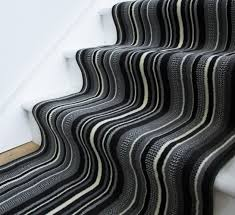 Black And White Striped Runner Rug Lima 459 Black And White Striped Runner Rug Modern Stair Carpet