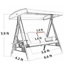 Patio Swing Frame by Abba Patio Apsw09t 3 Seat Outdoor Patio Swing In Taupe With