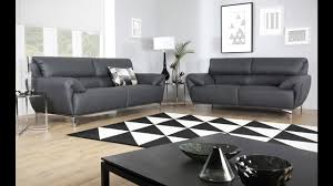 enzo grey leather sofa range by furniture choice youtube