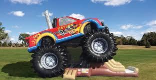 monster truck video austin bounce house rentals monster truck mayhem combo