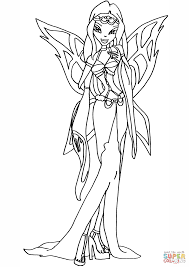 winx club morgana coloring page free printable coloring pages