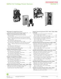 ge control catalog section 1 nema full voltage power