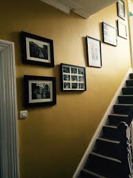 Paint Colours For Hallways And Stairs by Mustard Feature Wall Hall Stairs And Landing Dulux Endurance