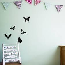 nursery wall stickers notonthehighstreet com butterflies wall art decal pack for kids