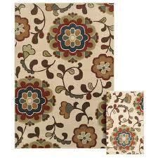 Loews Area Rugs Shop Oriental Weavers Of America Sophia Ivory Rectangular Indoor
