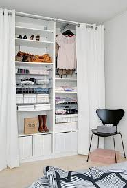 How To Make A Closet With Curtains Best 25 Makeshift Closet Ideas On Pinterest Open Closets