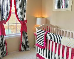Black And Fuchsia Curtains Pink Curtains Etsy