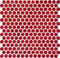 11pcs red penny round ceramic mosaic tile kitchen backsplash