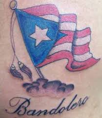 patriotic puerto rican flag over the cloud theme tattoo tattoomagz