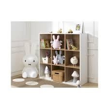 bibliotheque chambre enfant bibliotheque 9 cases de rangement blanc 100x100x35 tomablcm13c