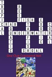 underwater one clue crossword