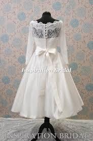 1345 retro short tea length knee length delicate lace wedding