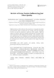 Fiber Soil by Review Of Some Factors Influencing Jute Fiber Quality Pdf