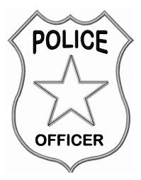 police badge officer coloring page sheets and free print pages