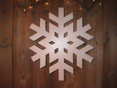 large wooden snowflake for door or wall by hooksandmore on etsy