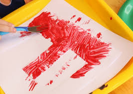 elmo painting e is for elmo preschool alphabet craft school time snippets