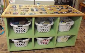 ana white laundry basket dresser with picture top diy projects