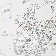 Estonia On The World Map by Personalised World Pinboard Map U2013 Louisa Elizabeth