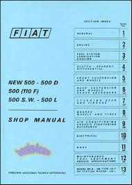 fiat 500 shop manual book service repair abarth topolino nouva