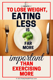to lose weight eating less is far more important than exercising more