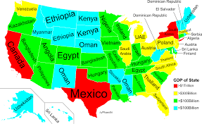 Mexico Map With States by Map Gdp Of Us States Compared To Other Countries Startribune Com