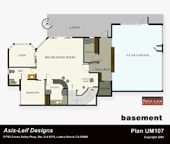 floor plans for basements alternate basement floor plan 1st level 3 bedroom house plan with