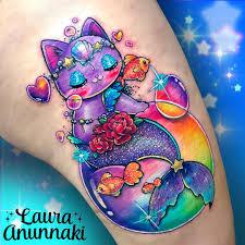 kawaii tattoos by laura annunaki inkppl tattoo magazine