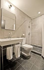 Console Bathroom Sinks Contemporary 3 4 Bathroom With Console Sink U0026 Complex Granite Tile