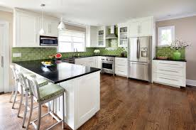 green tile kitchen backsplash kitchens kitchen york by clean design
