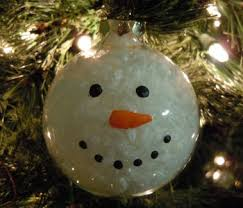craft idea make a snowman ornament