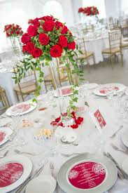 Red Roses Centerpieces Wedding Stationery Ideas Todaysbride Ca
