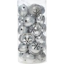 set of 24 silver tone bells baubles u0026 tree decorations