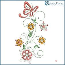 flowers with butterfly embroidery design emblanka com