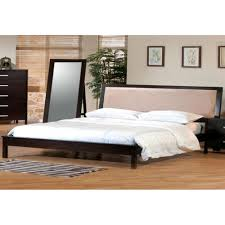 King Bed Platform Bedroom Enchanting Grey Sheet Platform Bed With Black Wooden