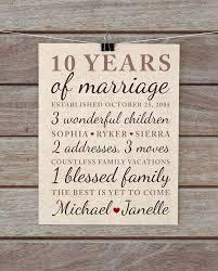10th anniversary gift 10 year wedding anniversary gift