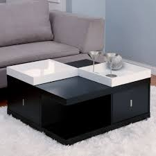 small contemporary coffee tables black and white practical and