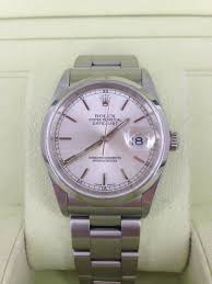 rolex oyster bracelet stainless steel images Sold rolex gents oyster perpetual datejust 36mm case stainless jpg