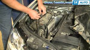 how to install replace engine air filter volkswagen passat 02 05