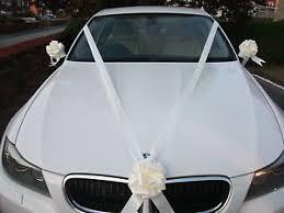 car ribbon ivory wedding car decoration kit 3 large bows 7 metres of ribbon