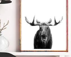 Moose Head Decor Moose Wall Art Etsy