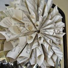 Christmas Tree Wreath Form - easy and inexpensive christmas decorations from sheet music
