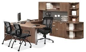 Cheap U Shaped Desk U Shaped Desk W Peninsula And Lower Corner Bookcase