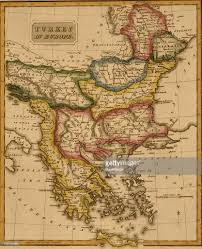 Greece Turkey Map by Map Of Turkey In Europe 1817 Pictures Getty Images