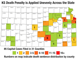 Kansas Counties Map Kansas Facts Kansas Coalition Against The Death Penalty