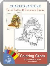 rabbit and benjamin bunny santore rabbit benjamin bunny coloring cards