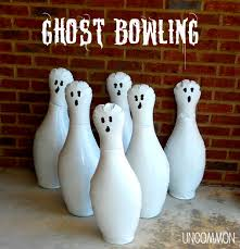 diy ghost bowling game a halloween party game